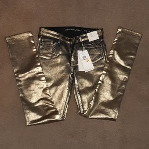 Calvin Klein Black & Gold Ultimate Skinny Jeans